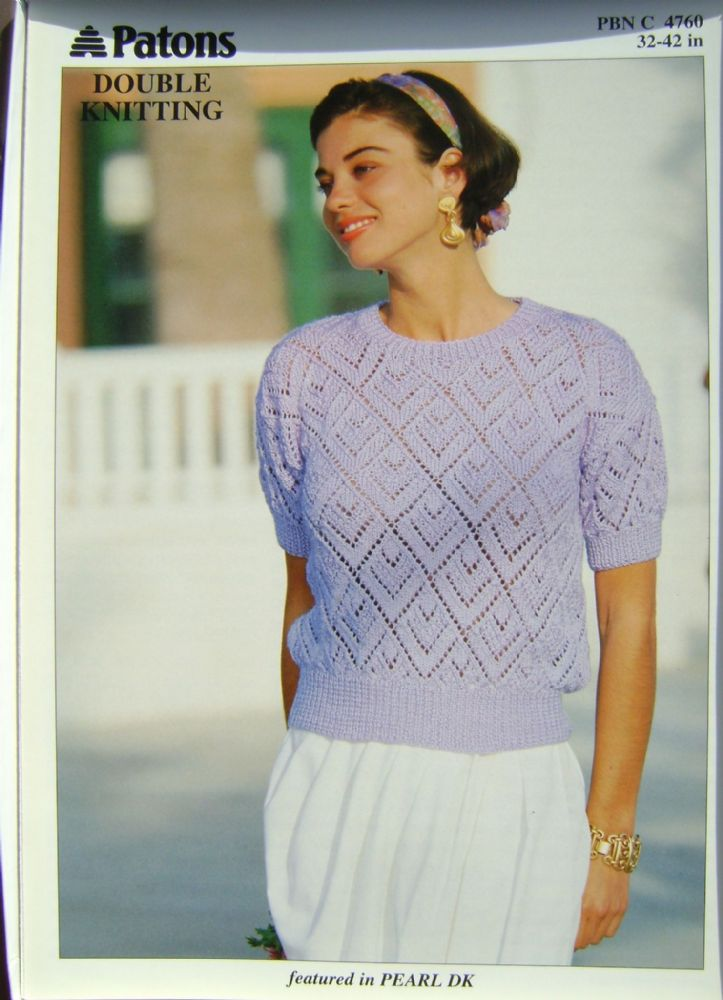 Patons Knitting Pattern 4760